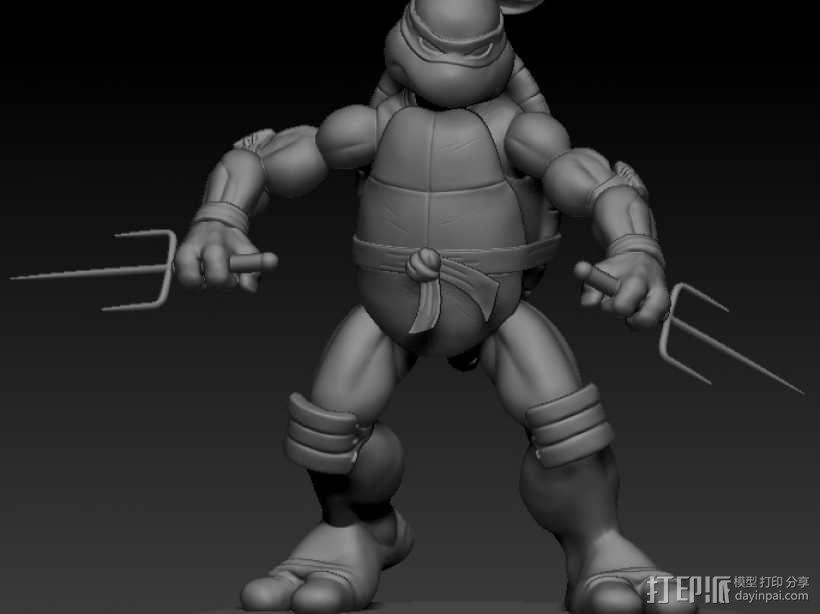 漫画版忍者神龟拉菲尔 3D模型  图1