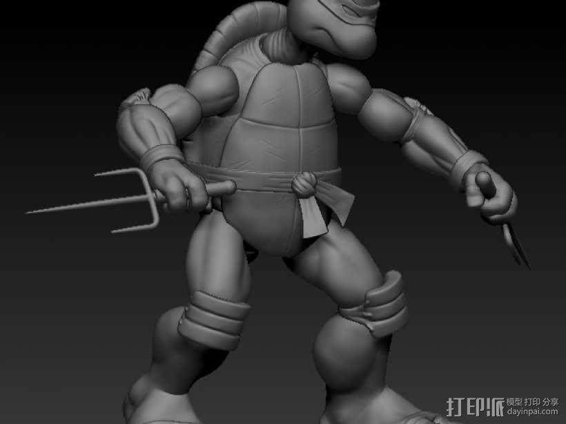 漫画版忍者神龟拉菲尔 3D模型  图4