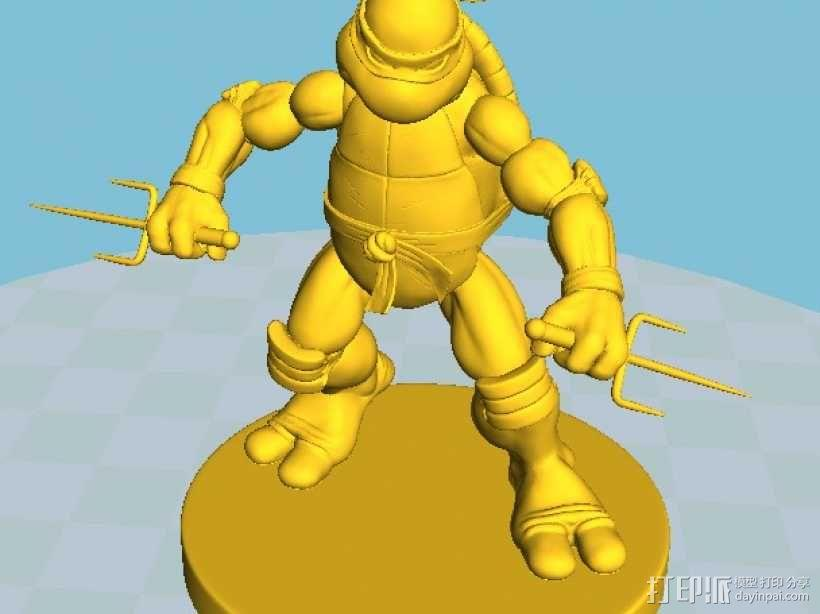 漫画版忍者神龟拉菲尔 3D模型  图7