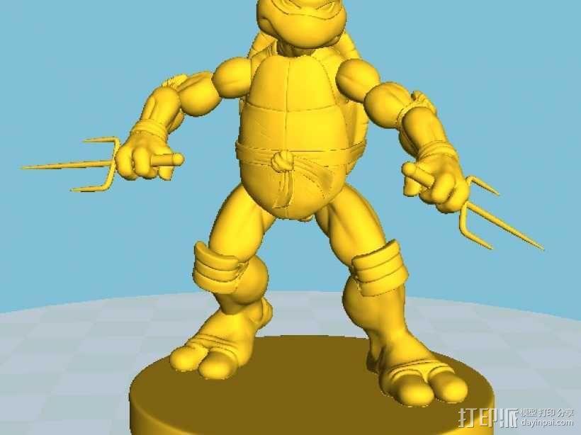 漫画版忍者神龟拉菲尔 3D模型  图5
