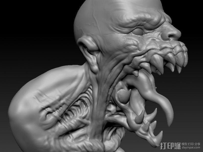 大嘴 3D模型  图1