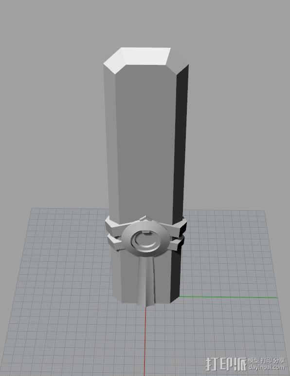 时间刺客-艾克(sword) 3D模型  图3