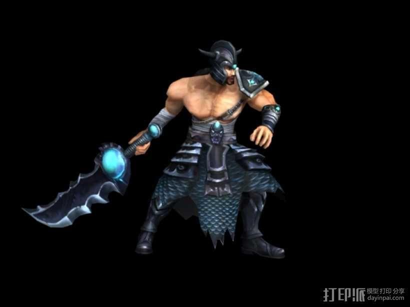 英雄联盟  蛮族之王 3D模型  图1