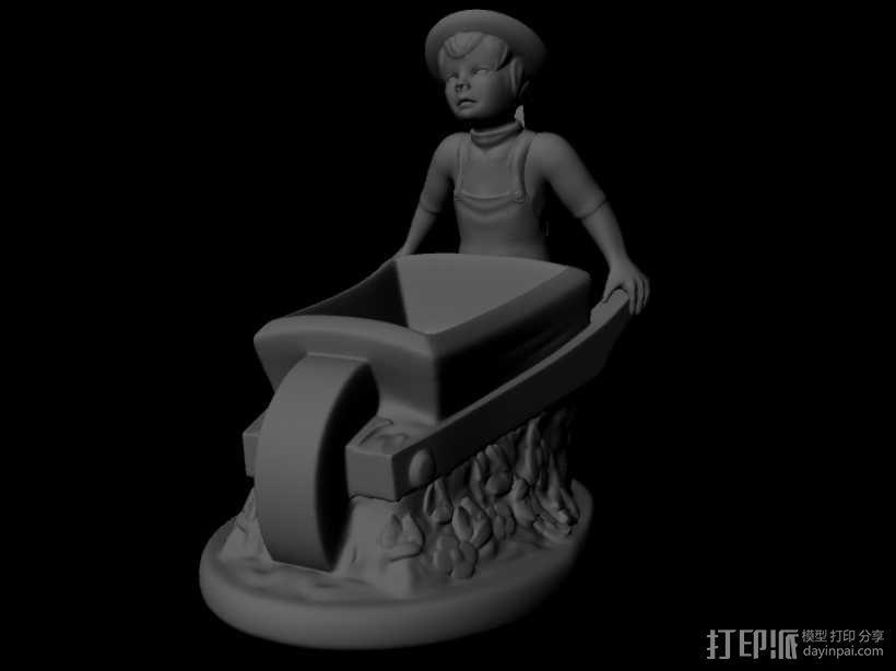 推车小人 3D模型  图2
