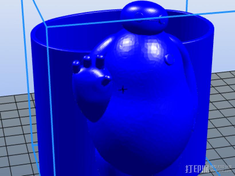 大白笔筒 3D模型  图1