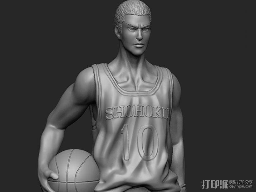 《灌篮高手》——樱木花道 3D模型  图3