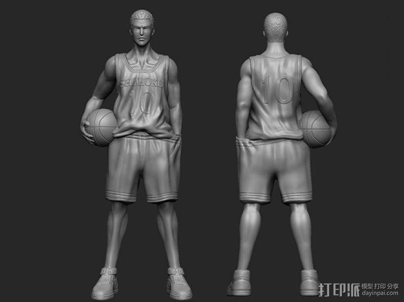 《灌篮高手》——樱木花道 3D模型  图2