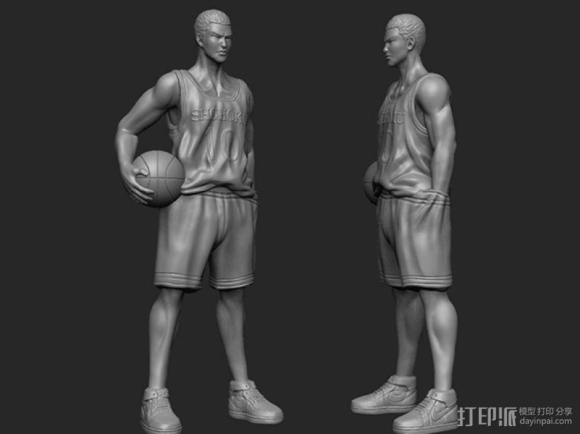 《灌篮高手》——樱木花道 3D模型  图1