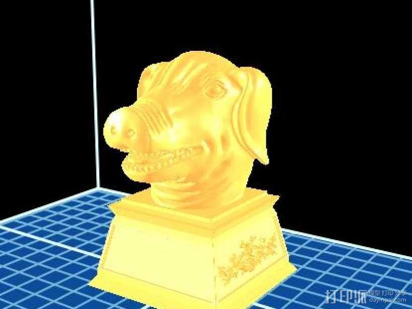 十二生肖 猪首 3D模型  图1