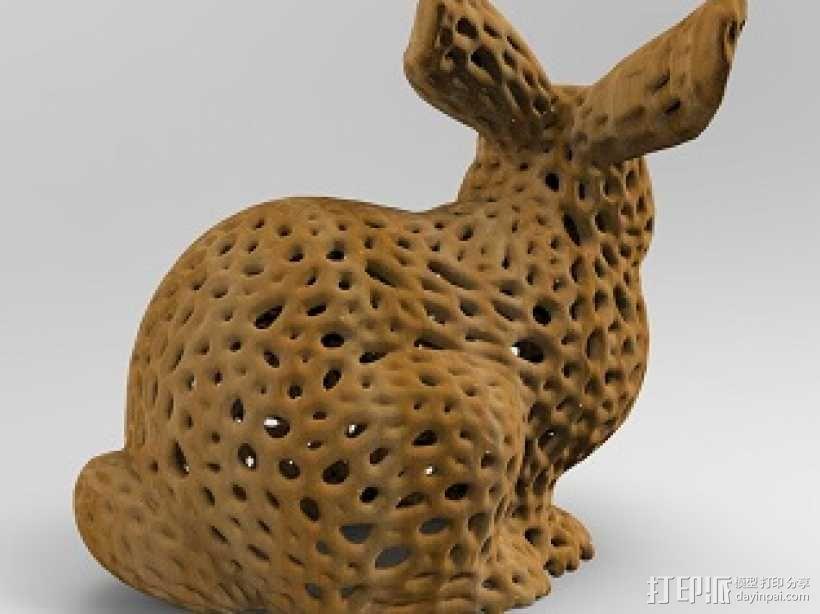 镂空艺术品-兔子 3D模型  图2