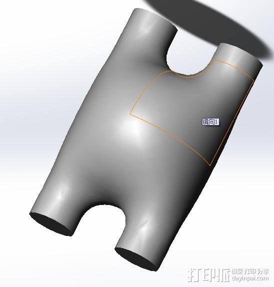 曲面零件 3D模型  图1
