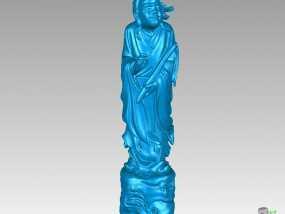 八仙-韩湘子 3D模型