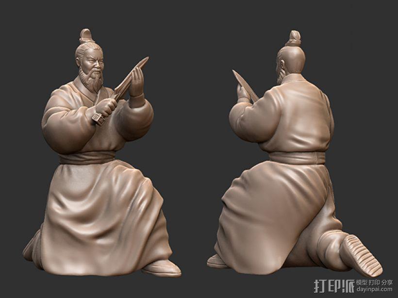 三国演义之曹操献刀——曹操 3D模型  图1