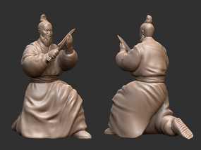 三国演义之曹操献刀——曹操 3D模型