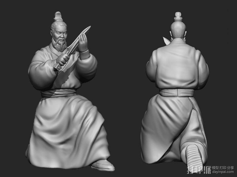 三国演义之曹操献刀——曹操 3D模型  图2