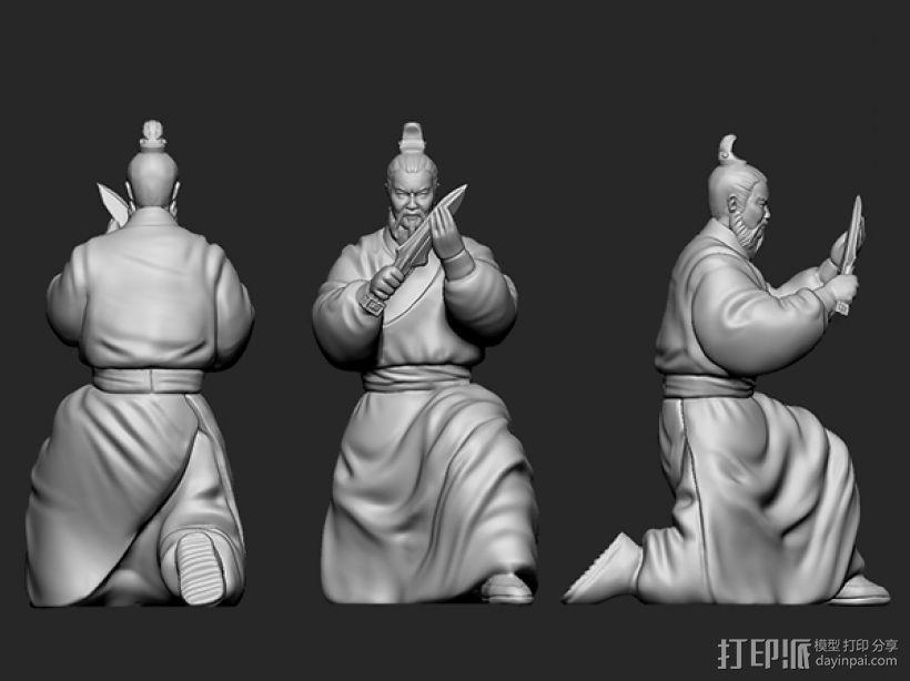 三国演义之曹操献刀——曹操 3D模型  图3