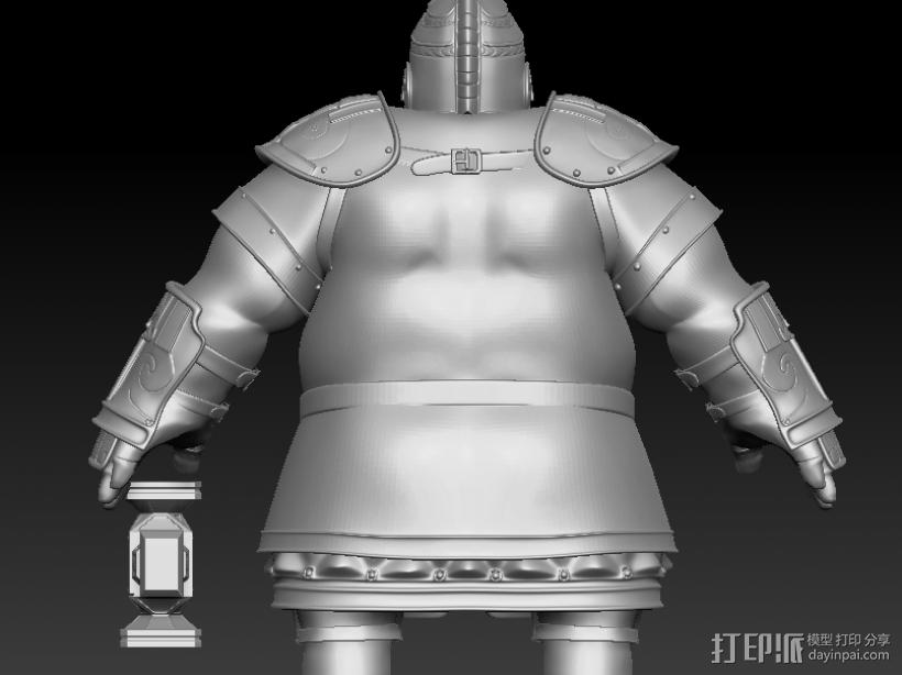 战士 3D模型  图1