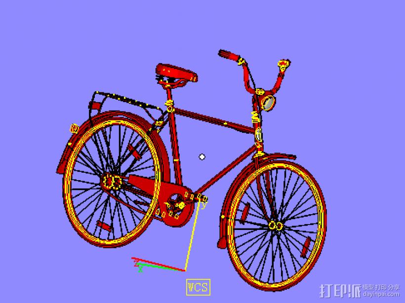 自行车 3D模型  图1