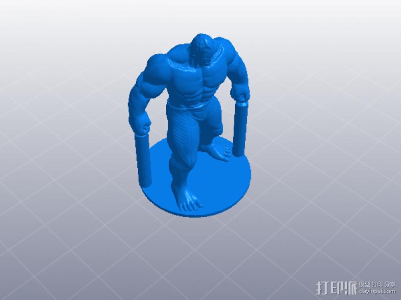 复仇者联盟 绿巨人浩克 Hulk  3D模型  图3