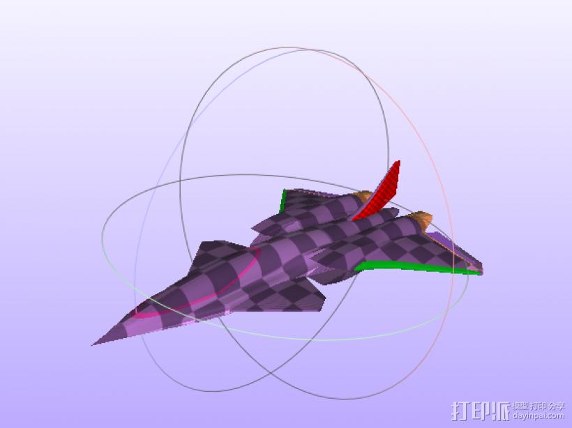 飞机 3D模型  图1