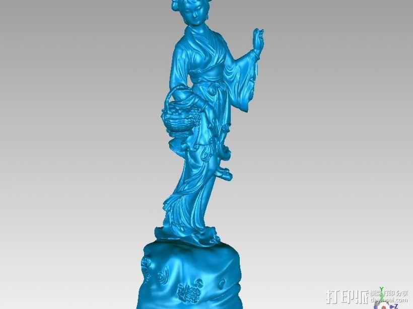 八仙-何仙姑 3D模型  图1
