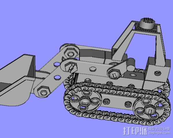 挖机 3D模型  图1