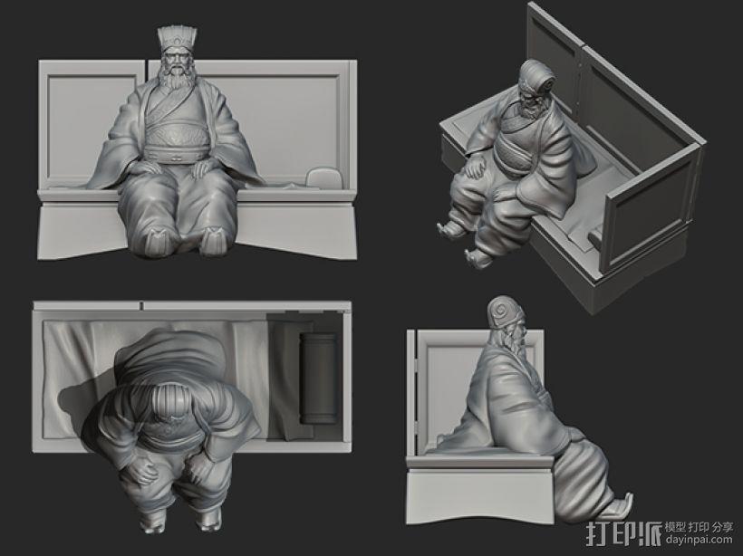 三国演义之曹操献刀——董卓 3D模型  图4