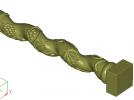 葡萄罗马柱子 3D模型 图1