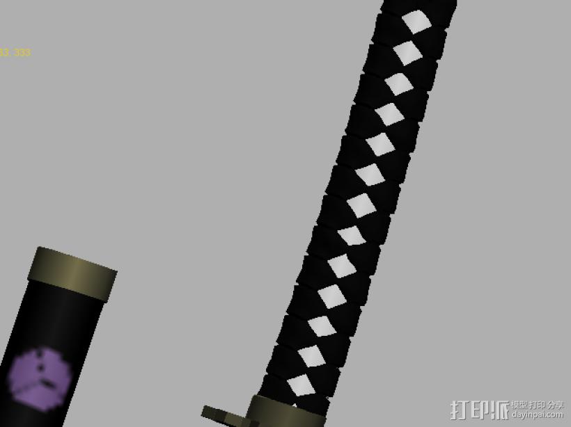 【武士刀】4把高模 3D模型  图1