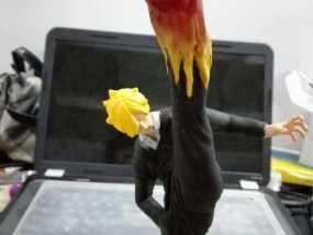 海贼王 山治 恶魔风脚 3D打印制作