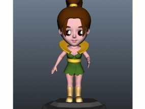 森林精灵 3D模型