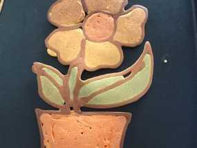 煎饼打印机 花盆造型 煎饼 3D打印制作