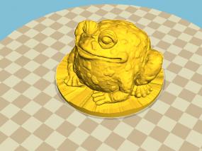 蟾蜍  癞蛤蟆  精模 3d打印 3D模型