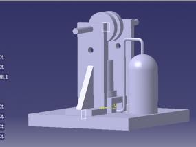 蒸汽机简易模型初稿 3D模型