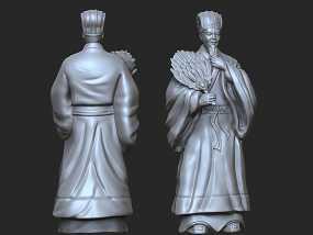 《三国演义之三顾茅庐》诸葛亮 3D模型