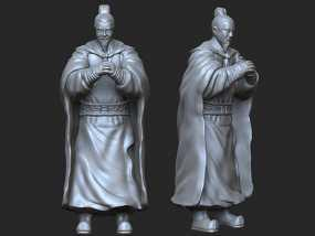 《三国演义之三顾茅庐》刘备 3D模型