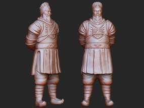 《 三国演义之七擒孟获》孟获 3D模型