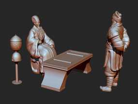 《三国演义之七擒孟获》诸葛亮 3D模型