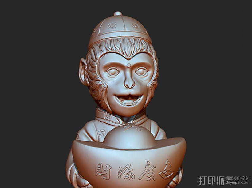 2016年金猴送宝 3D模型  图3