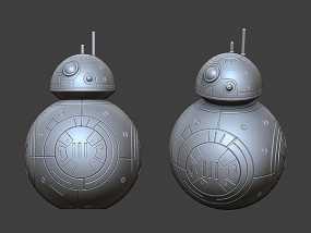 《星球大战:原力觉醒》BB-8 3D模型