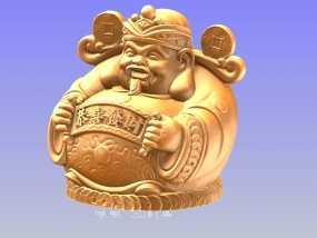 迎接财神过新年存钱筒 3D模型