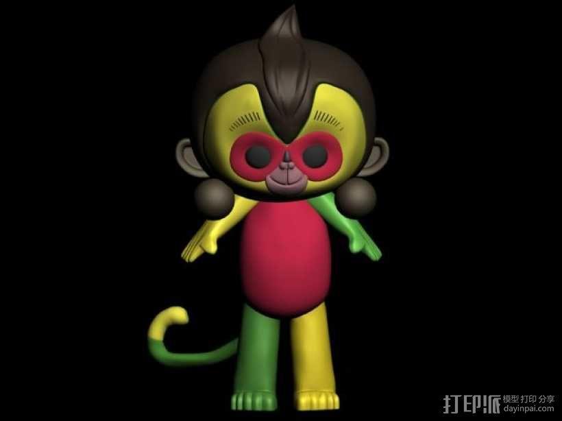 猴年吉祥物康康 猴腮雷 3D模型  图1