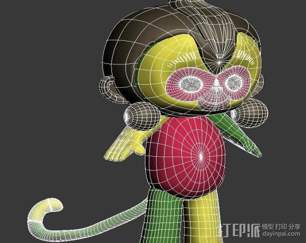 猴年吉祥物康康 猴腮雷 3D模型  图2