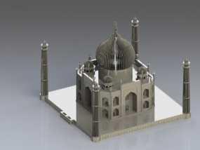 泰姬陵 3D模型