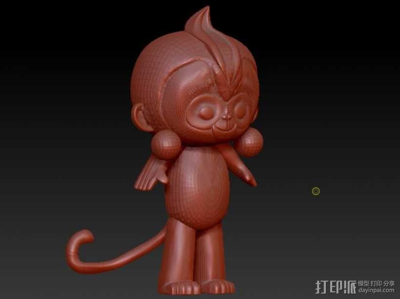 猴年吉祥物康康 猴腮雷 3D模型  图3