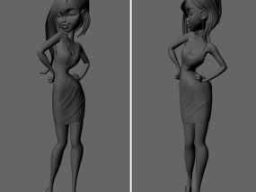 最美女孩 3D模型