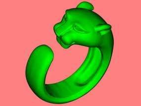 豹子戒指 3D模型