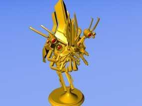 机器人头颅 3D模型