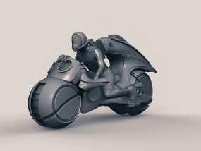 光轮摩托 3D模型