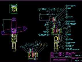 电机摆动臂 3D模型
